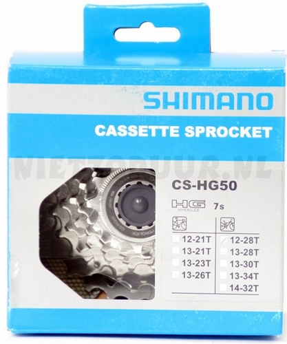 Cassette shimano CS-HG50 7 speed 12-28