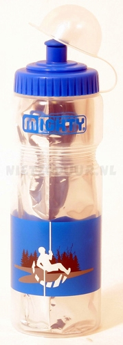 Bidon 400 ml Mighty thermo zilver/blauw
